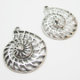 2 Large Nautilus Shell Charms 4110
