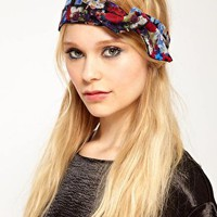 River Island Floral Print Head Band at asos.com