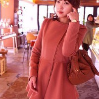 Korean Design Fashion Lap Girls Red Coats : Wholesaleclothing4u.com