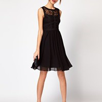 Warehouse Lace Bodice Dress at asos.com