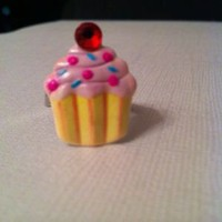 Light Pink Cupcake Ring Adjustable Band | eBay