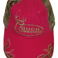 Buck Commander ~ Laides Pink and Camo Gold Logo'd ~ Deer Hunting Hat Cap