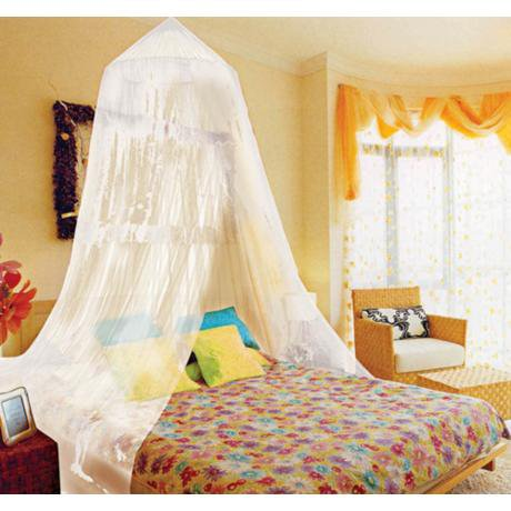 Kathy Ireland White Twin Full Canopy Bed From