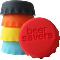 Beer Saver Reusable Silicone Bottle Caps - Set of 6: Amazon.com: Kitchen &amp; Dining