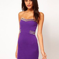 TFNC Bandeau Bodycon Dress with Embellishment at asos.com