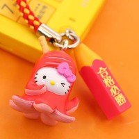 Sanrio Hello Kitty Gokaku Cell Phone Strap (Japanese Sausage)