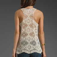 Lovers + Friends Lily Crochet Tank in Cream from REVOLVEclothing.com