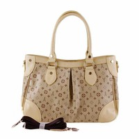 Fashionable Women's Leather Tote Bag Apricot  -  BuyTrends.com