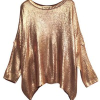 Premium Sweater in Gold-tone Metallic