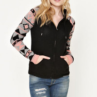 LA Hearts Hoodie Zip Up Sweater at PacSun.com