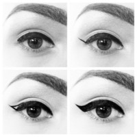DIY Beauty. / Classic cat eye. If only it were this easy.