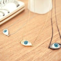 Vintage Evil Eye Pendant Necklace
