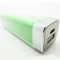 Green Lip Gloss 2200mAh Universal Mobile USB Portable Power Bank Charger 5V 1A output for Apple iPh