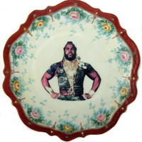 Sergeant Bosco Portrait  Plate - Altered Antique Plate