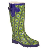 Women's Peacock Rain Boots - Blue/Green : Target
