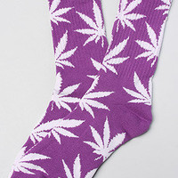 The Plantlife Socks in Purple &amp; White
