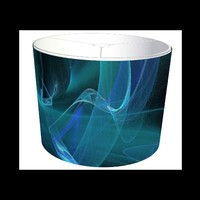 MySoti - DeadTreeArt - &#x27;Blue Swirl Fractal Flame&#x27;- Lampshade