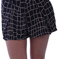 Cobblestone Shorts | Retro Style Shorts | Printed Shorts | Indie Clothing | MessesOfDresses.com