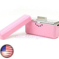 Portable Backup Battery Charger for iPhone 4S/4/3GS+USB Galaxy/blackberry PINK