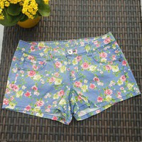 Floral Print Summer Shorts - Retro, Indie and Unique Fashion