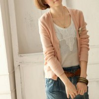 I'Miusa Style Single Breasted Cardigan Ladies Blouses