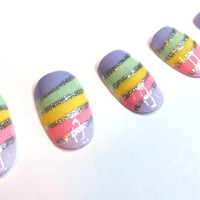 Nails Easter Egg Rainbow Candy