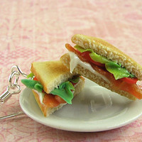 Tiny Food - Piled High BLT Earrings