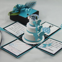 Exploding Box Invitation & 3Tier Cake PDF by jinkyscrafts on Etsy