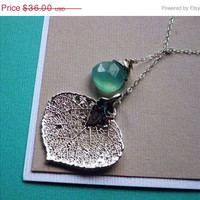 ON SALE Real Leaf necklace Aspen leaf jewelry by BriguysGirls
