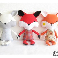 Fox Stuffed Toy Softie PDF Sewing Pattern by DollsAndDaydreams