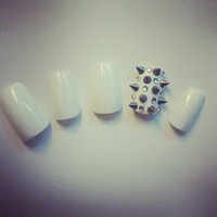 Rhinestone Studded Spiked Nail Art Nail Tips