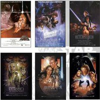 Star Wars Deluxe Set of all 6 Full Size Movie Posters | eBay