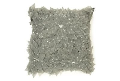 One Kings Lane - Pillows We Love - Debage Striking Leaves Pillow, Silver