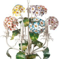 One Kings Lane - Jeannie Fraise, Lotus Bleu - 1940s Hydrangea Chandelier