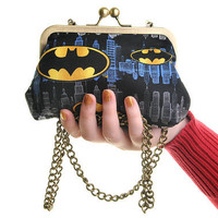 Batman LogosEvening Handbag Purse and Clutch In One