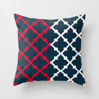 Blue Red and White by Adidit Throw Pillow by Adidit | Society6