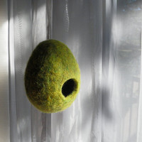 Hanging Nest Playful Unique Storage Pod Felted Wool by PariDesign