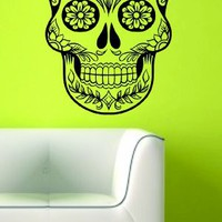 Sugarskull Version 7 Wall Vinyl Decal Sticker Art Graphic Sticker Sugar Skull