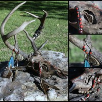 SACRIFICIAL STAG deer shaman spirit skull  by WolfpackTribal