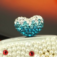 Cute Heart Shaped Earphone Jack Dust Plug for iPhone iPad or 3.5mm Cell Phone -Color Randomly send