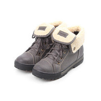 Reneeze AMBER-03 Women Lace-Up Mid-Top Sneakers Bootie - Gray