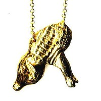RABID FOX Alligator Necklace by Fleathers on Etsy