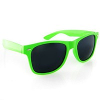 Neon Green Wayfarer Sunglasses