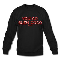 Spreadshirt, You Go Glen Coco +4 Candy Canes, Men's Crewneck Sweatshirt, black, M
