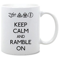 Led Zeppelin Keep Calm And Ramble On Coffee Mug