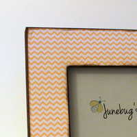 4x6 Photo Frame Yellow Zig Zag Chevron