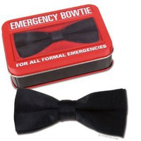 Amazon.com: Emergency Silk Like Bowtie with Metal Attachment New: Toys & Games
