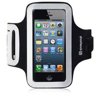 IPHONE 5 SHOCKSOCK REFLECTIVE SPORTS ARMBAND CASE - BLACK
