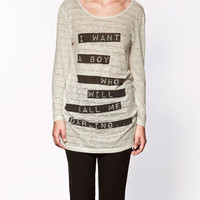MESSAGE T-SHIRT - Collection - T-shirts - Collection - Woman - ZARA United States