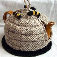 Honeybee Tea Cozy by HazelLambertKnits on Etsy